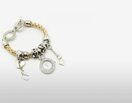 orologio bracciale charms perline fashion gioielli super sconti supersconti