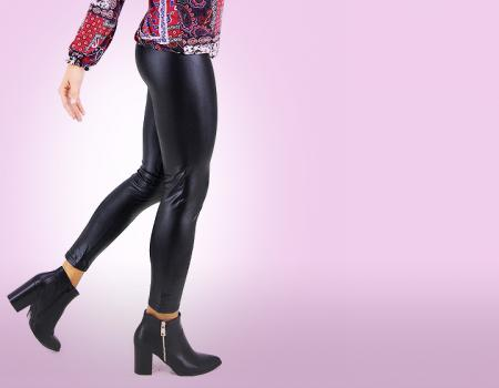 Leggings Skinny in ecopelle  fashion abbigliamento super sconti supersconti