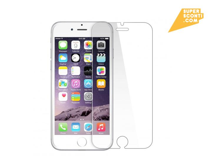 Pellicola vetro temperato per iPhone 6 elettronica telefonia accessori super sconti supersconti