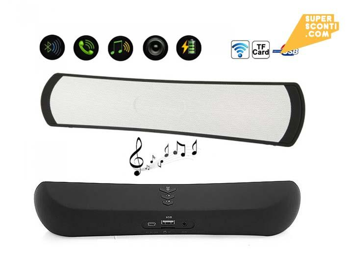 Speaker Bluetooth 6W elettronica telefonia accessori super sconti supersconti